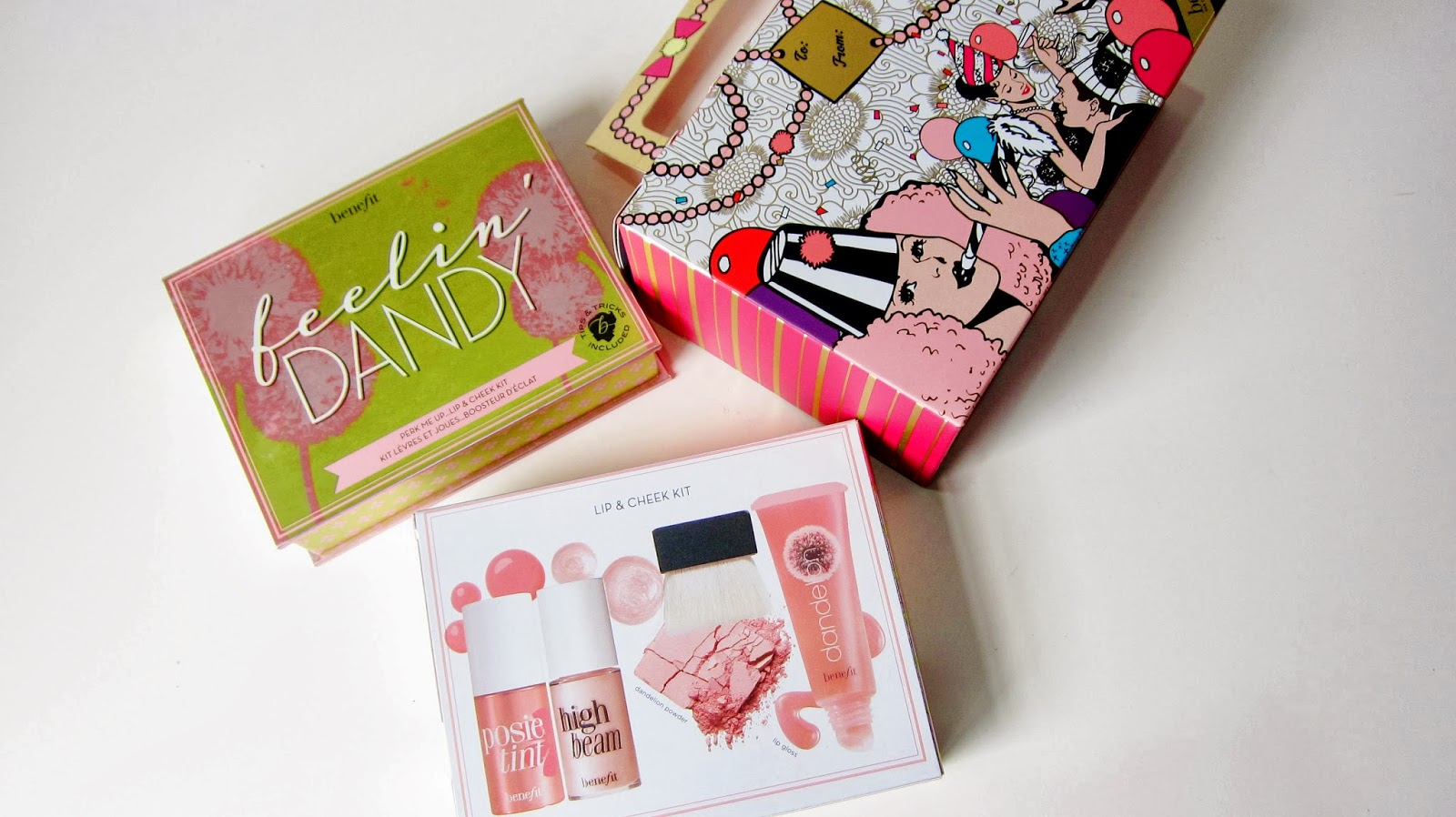 BENEFIT COSMETICS FEELIN' DANDY LIP & CHEEK KIT