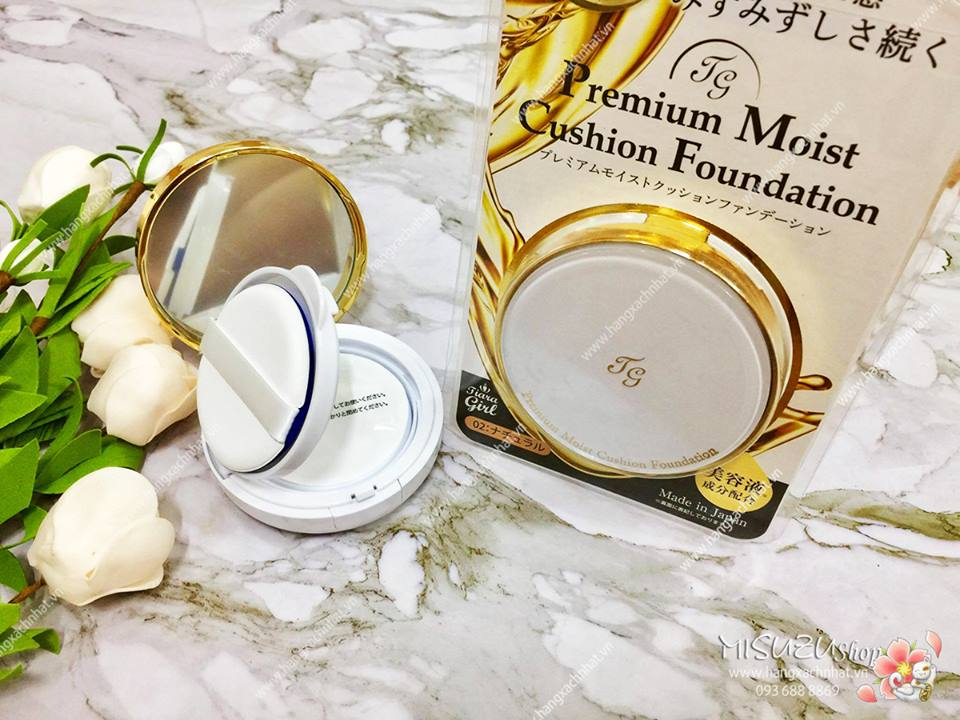 Phấn nước Premium Moist Cushion Foundation Tiara Girl SPF 50+/ PA+++