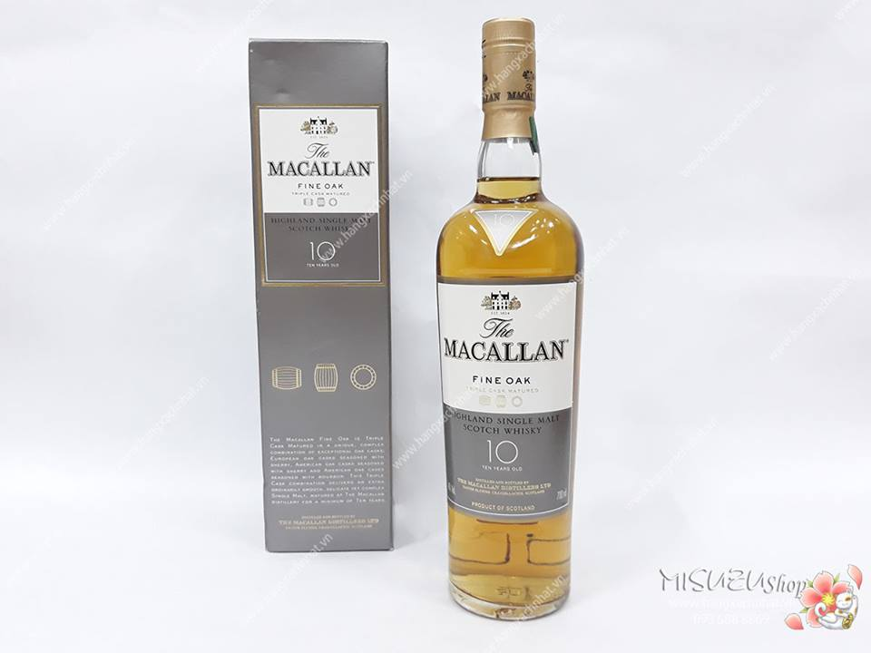 Rượu Macallan 10 Fine Oak 750ml, 40%