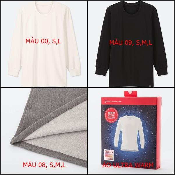 Áo heattech Ultra warm nam Uniqlo