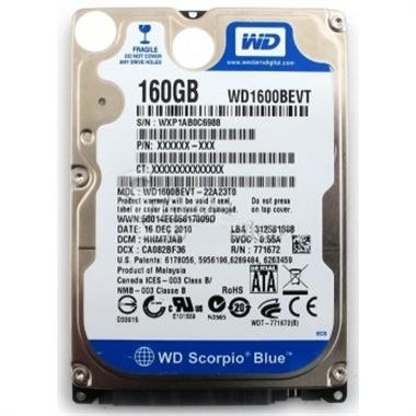 Thay ổ cứng wd 160gb cho laptop