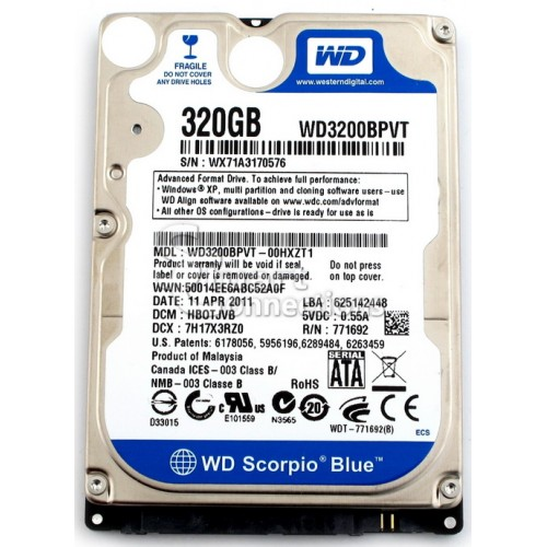 Thay ổ cứng wd 320 gb laptop
