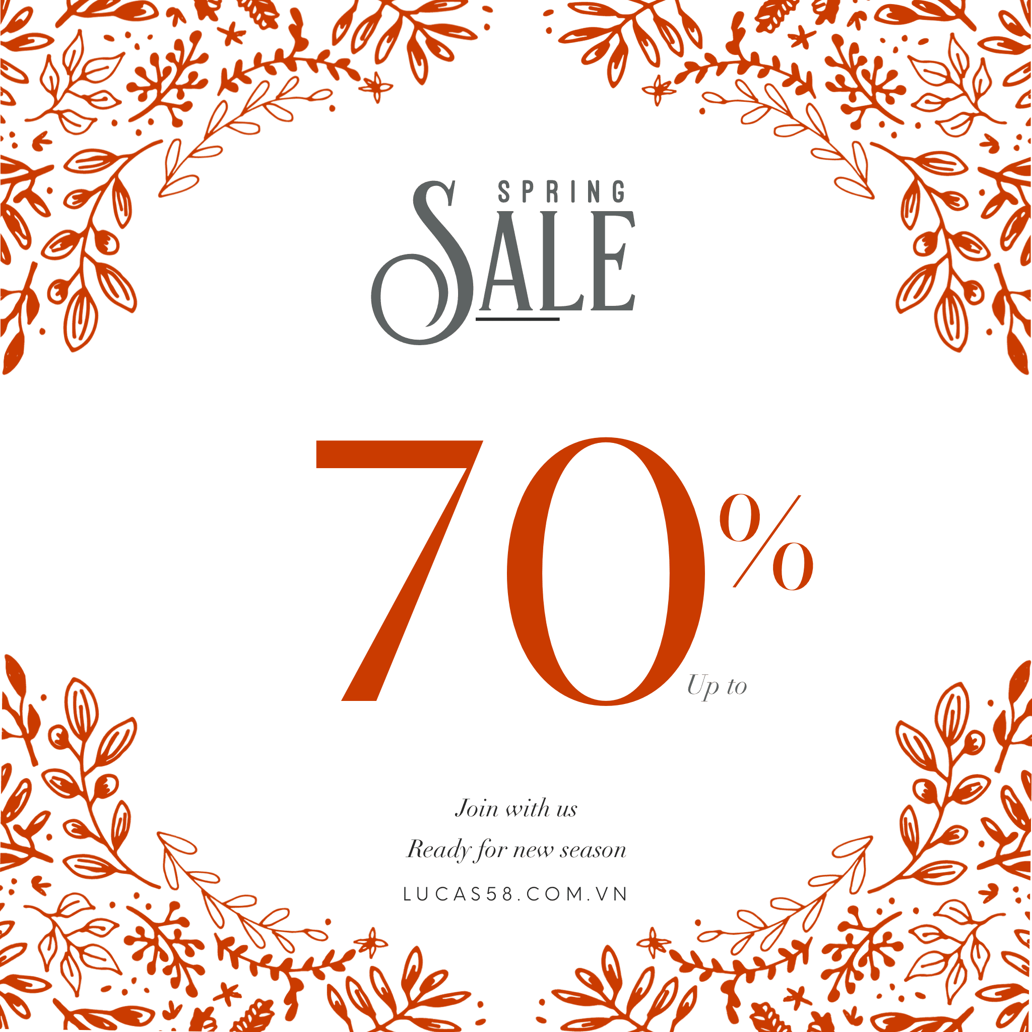 SPRING SALE | 70% UP TO