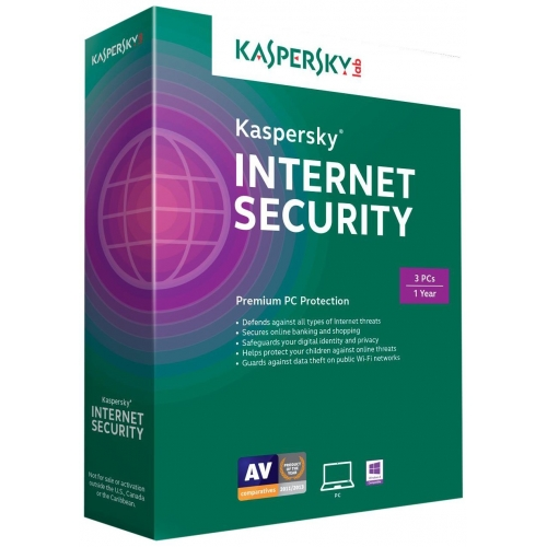 Kaspersky Internet Security 2016 (3 PC)