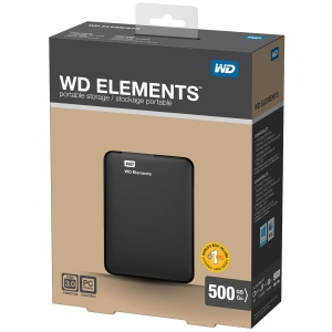 Western Digital Elements Portable 500 GB USB 3.0 (WDBUZG5000ABK)