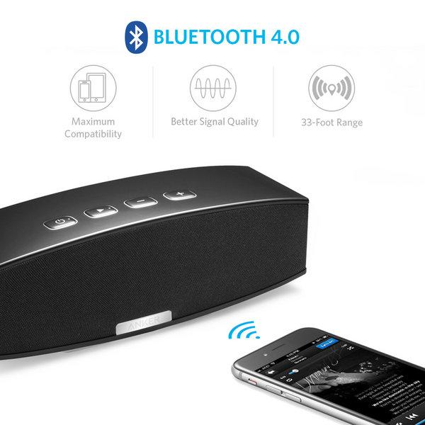 Loa bluetooth công suất cao - Anker 20W Bluetooth 4.0 - Âm thanh stereo