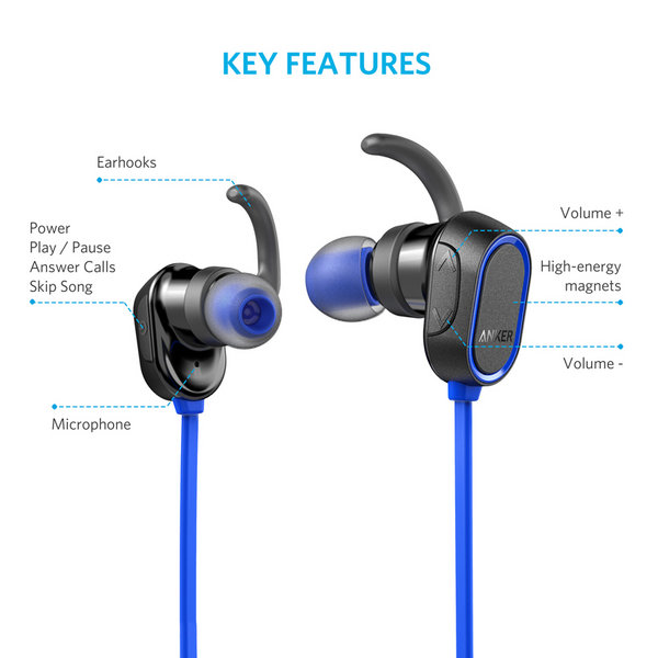 Tai Nghe Bluetooth Anker SoundBuds Sport - Blue