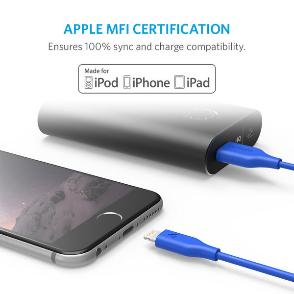CÁP LIGHTNING ANKER POWERLINE - DÀI 0.9M