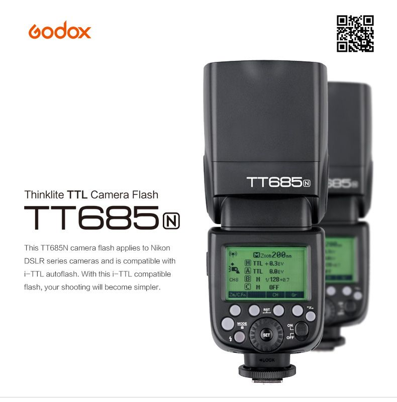 Đèn Flash GODOX TT685N for Nikon - GN60 - HSS - TTL
