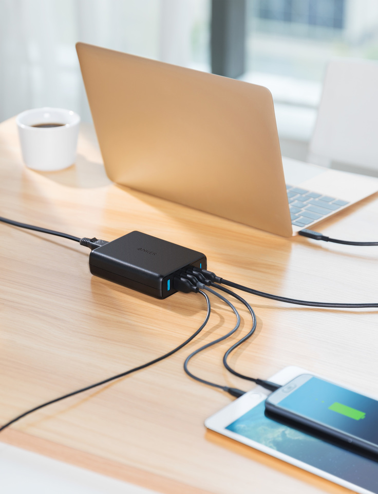 Sạc Anker 5 Cổng 60W, USB-C - PowerPort Speed 5