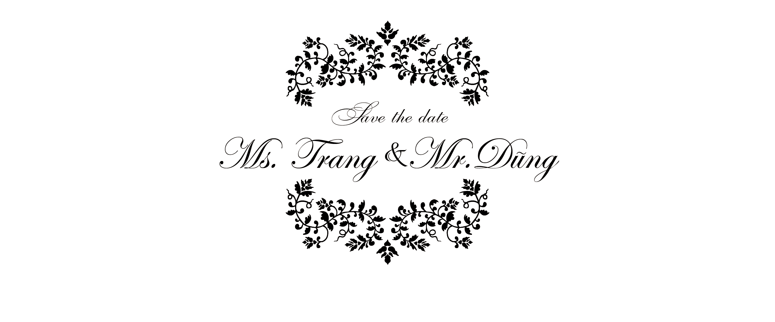 SAVE THE DATE Trang & Dũng