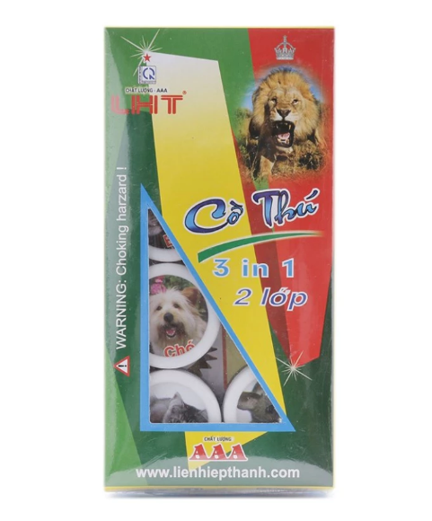 *Cờ thú 3 in 1 - 2 lớp