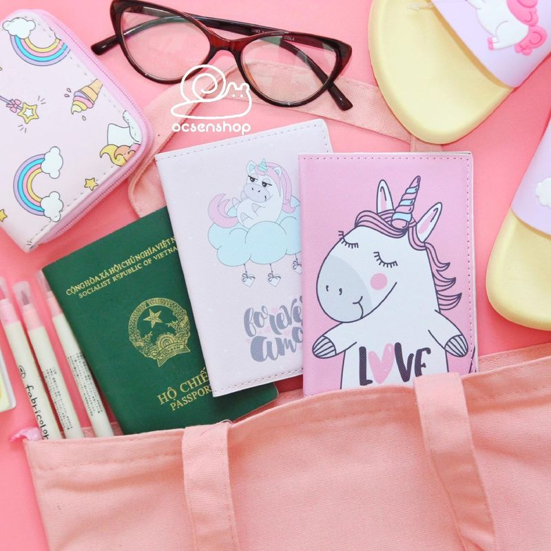 Vo passport hinh Unicorn