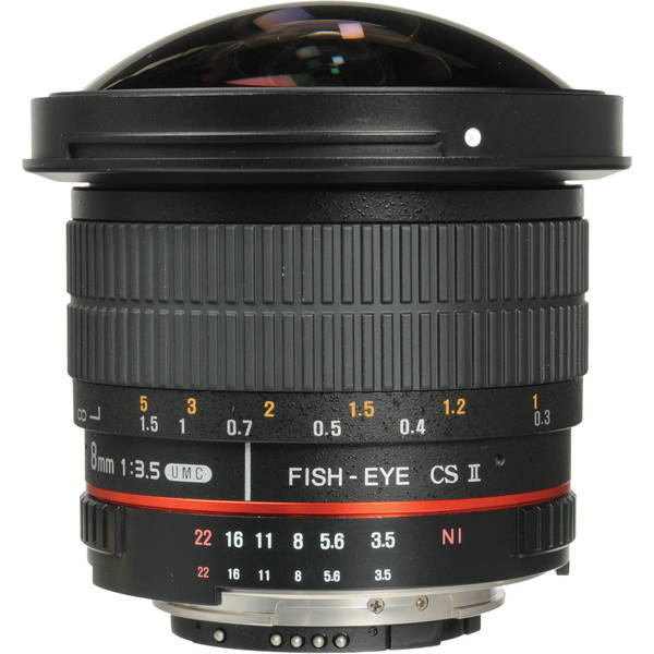 Samyang 8mm F/3.5 Fisheye for Nikon AE - Mới 100%