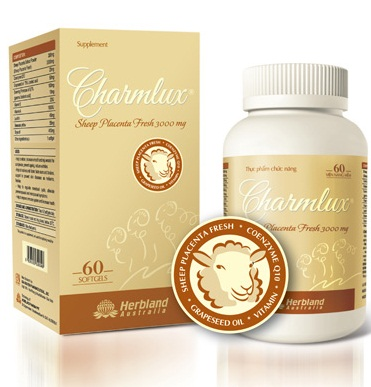 Nhau Thai Cừu Charmlux Sheep Placenta Fresh 3000 MG