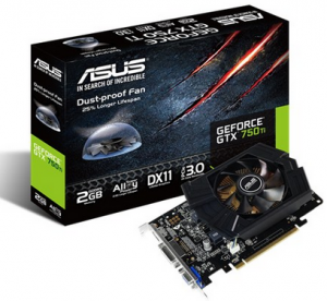ASUS GTX750TI-2GD5 (NVIDIA GeForce GTX 750 Ti, GDDR5 2GB, 128bits, PCI Express 3.0)