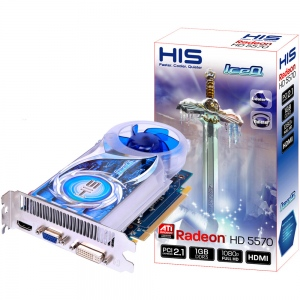 His 5570 iceQ H557Q2G (ATI Radeon HD 5570, GDDR3 2048MB, 128-bit, PCI Express 3.0)
