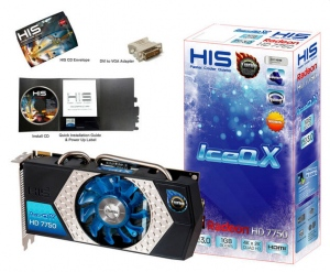 HIS 7750 IceQ X Turbo H7750QN1G2M (ATI Radeon HD 7750, 1024MB, 128-bit, GDDR5, PCI Express 3.0)