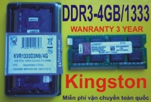 Kingston 4GB - DDR3 - Bus 1333MHz