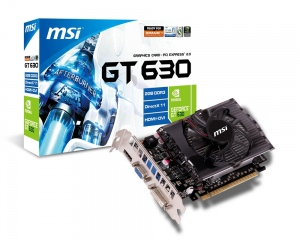 MSI N630GT-MD2GD3 (NVIDIA GeForce GT 630, GDDR3 2GB, 128-bit, PCI-E 2.0)