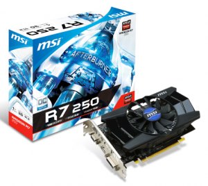 MSI R7 250 1GD5 OC(AMD Radeon R7 250, GDR5 1GB, 128 bits, PCI Express x16 3.0)