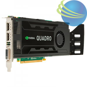 NVIDIA Quadro K4000 3GB DL-DVI+2xDP Graphics Card (C2J94AA)