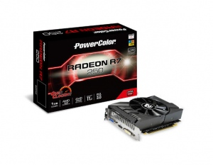PowerColor R7 250 1GB GDDR5 OC (ATI Radeon R7 250, 1GB, 128-bit, GDDR5, PCI Express 3.0)