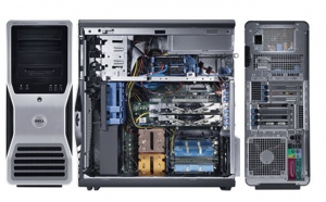 Server HP Workstation XW6400 (Intel Xeon Dual Core E5140 2.33GB, 4GB RAM, 160G HDD, 15km RPM, 4GB ECC RAM, 1000 Watt)