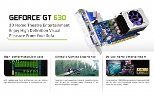 Sparkle SX630L1024JC (NVIDIA GeForce GT630 , GDDR3 1024MB, 128-Bit, PCI-E 2.0)