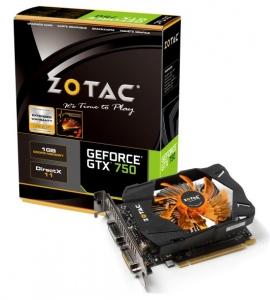 ZOTAC GTX 750 1GB DDR5 (NVIDIA GEFORCE GTX 750, 1GB DDR5, 128 bit, PCI Express 3.0)