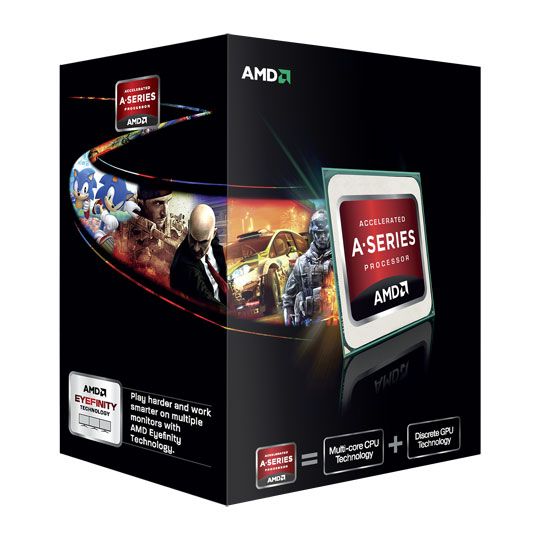 AMD A10-Series A10-5800K (3.8GHz turbo 4.2Ghz, 4M L2 Cache, socket FM2)