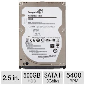 SEAGATE Barracuda 500GB - 5400rpm 16MB cache - SATAII