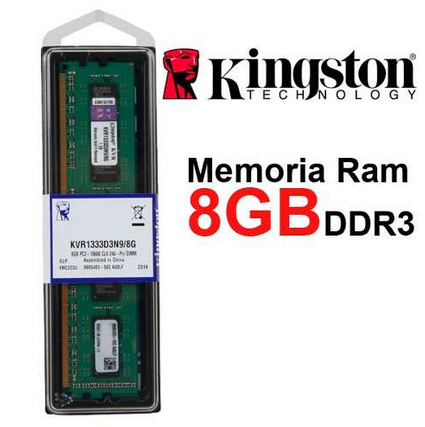 Kingston - DDR3 - 8GB - bus 1333 MHz - PC3 10600 (KVR1333D3N9/8G)