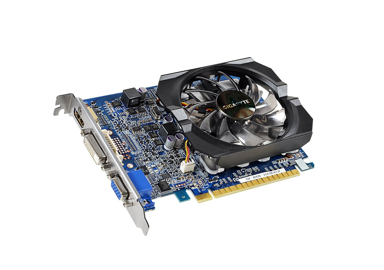 gv-n420-2gi (rev. 2.0) (NVIDIA GeForce GT 420, GDDR3 2GB, 128 bit, PCI-E 2.0)