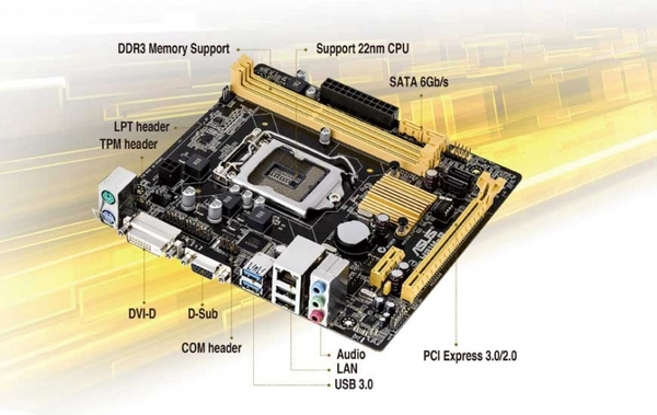 Mainboard Asus H81M-P cũ