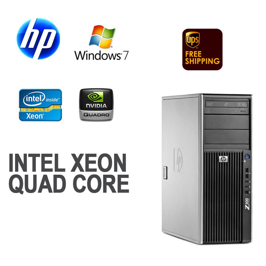 HP Z400 Workstation W3550 (Intel Xeon W3550 3.06 GHZ, RAM 8GB, HDD 500GB , DVD-RW, Windows 7 Professional 64-Bit)