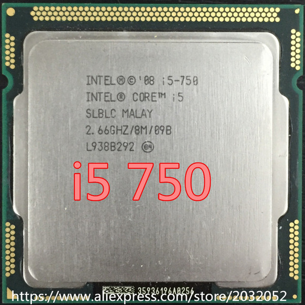 Intel Core i5750 (2.66 Ghz, 8MB L3 Cache, Socket 1156, 2.5GT/s DMI) (Cũ)