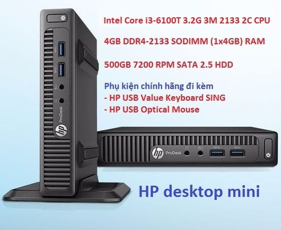 MÁY PC Mini HP 400G2PD DM I3-6100T-4GB-500GB