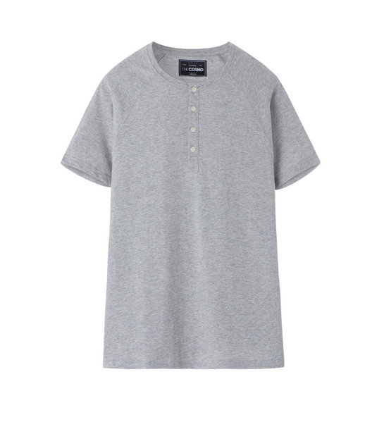 HENLEY T-SHIRT (DARK GREY)