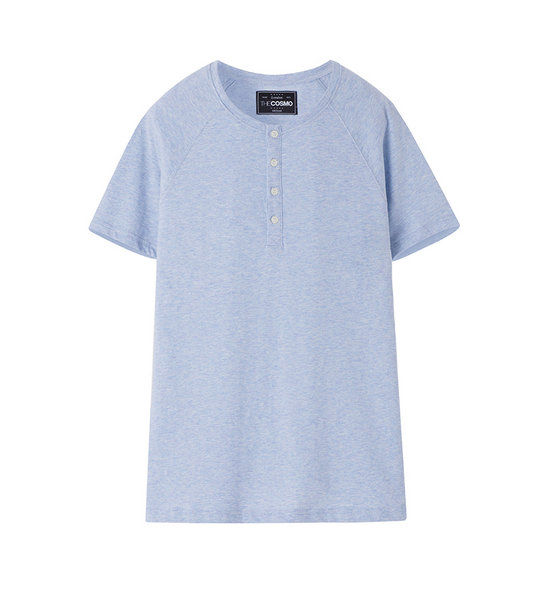 HENLEY T-SHIRT (BLUE)