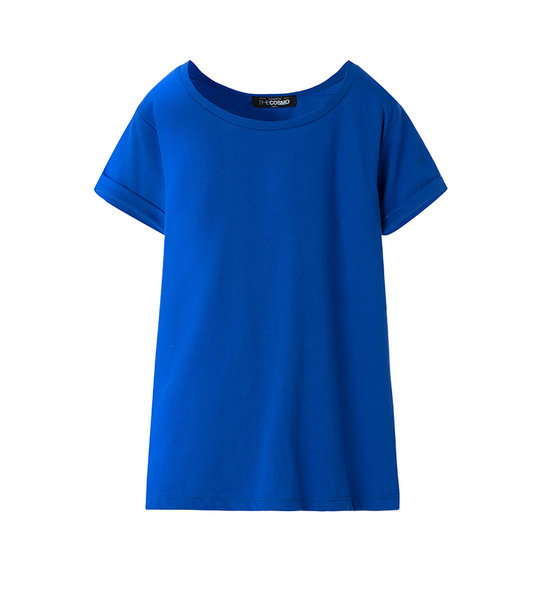 WOMEN CREW NECK T SHIRT (ROYAL)