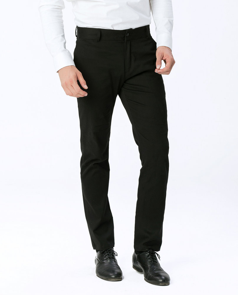 SLIM FIT CHINOS (BLACK)