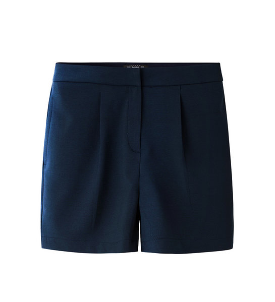 HIGH- WAIST SHORTS (NAVY)