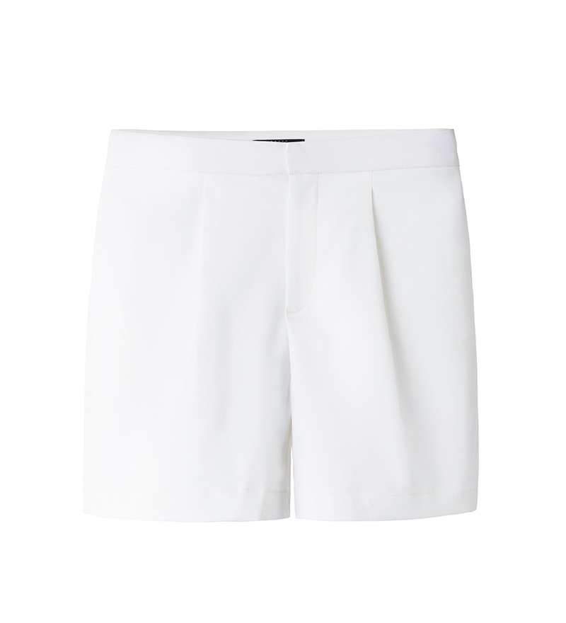 HIGH- WAIST SHORTS (WHITE)