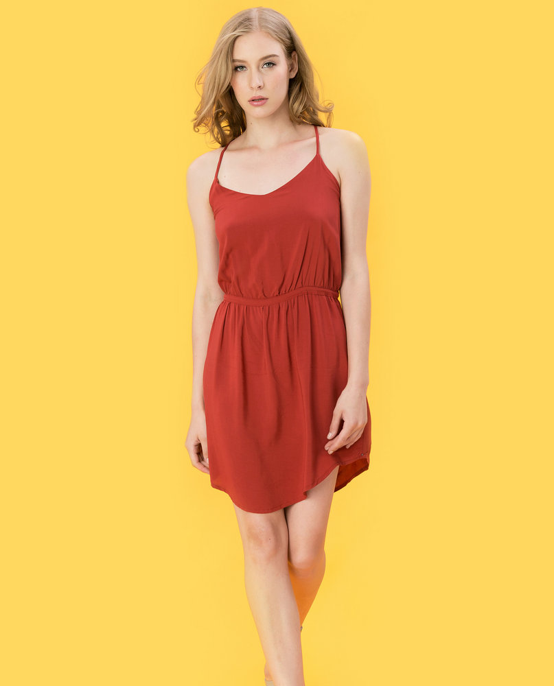 CAMI DRESS (TANGERINE)
