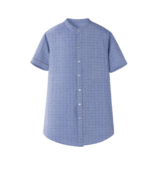 PRINTED SHIRT (BLUE)