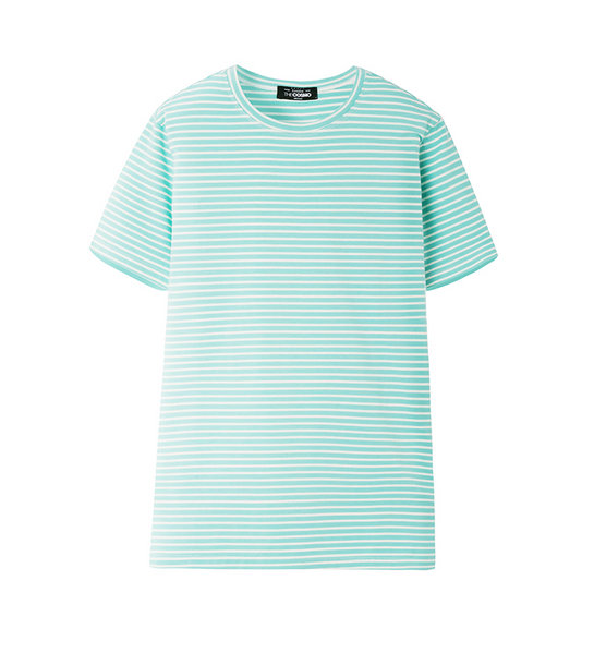 STRIPE T- SHIRT (AQUA)