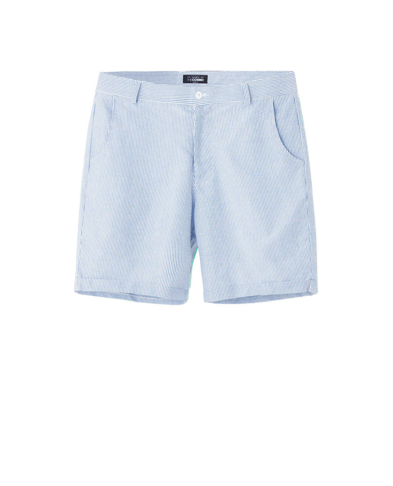 STRIPE SHORTS (LIGHT BLUE)