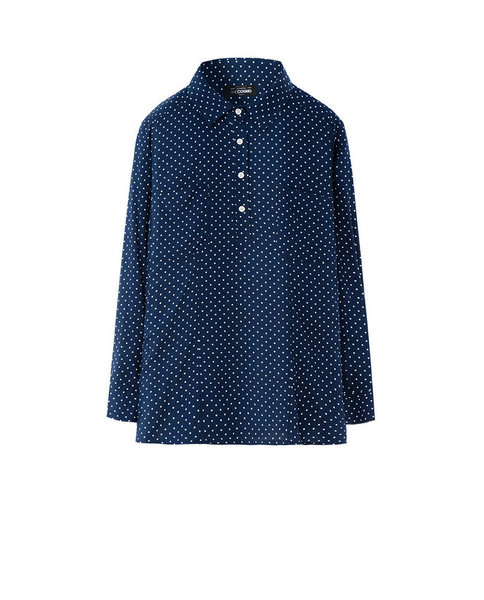 PRINTED BLOUSE (NAVY)