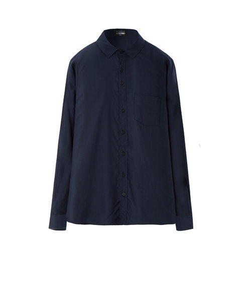VISCOSE SHIRT (NAVY)